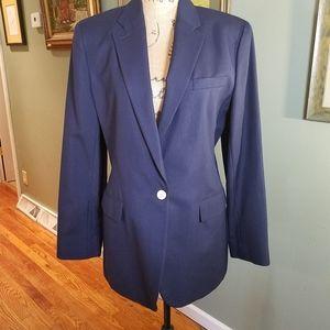 Lauren cotton/silk blend blazer made in USA